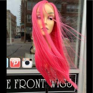 Barbie pink Wig wear a real wig like Barbie 2020